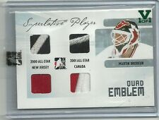 ITG Superlative Vault Quad Emblem Martin Brodeur Jersey Patch Card 1 of 1