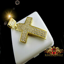 10K REAL SOLID YELLOW GOLD MEN'S WOMEN'S CROSS PENDANT CHARM 1.65 INCH 4.6 GRAMS