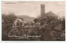 POSTCARD-SCOTLAND-AUCHINBLAE-PTD. The Parish Church.