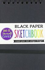 International Arrivals DIY Black Paper Sketch Book, 5 by 7.5 Inches 118-102