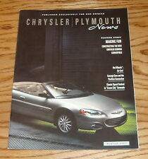 Original 2001 Chrysler Plymouth News Magazine Sales Brochure 01 Prowler Spyder