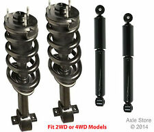 Full Set 2 Premium Front Complete Struts With Springs + 2 Rear Shocks Silverado