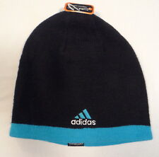 Adidas ClimaWarm Reversible Black & Blue Beanie Skull Cap Adult One Size NWT