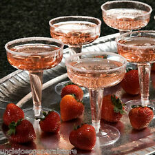 CHAMPAGNE GLASSES, Party Ware Weddings Holiday Parties, 4 oz plastic clear