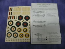 Vintage Hawker MK 1. As Fought In The Battle Of Britain Model Aircraft Decals