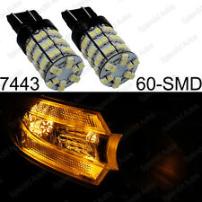 2 Amber Yellow 60-SMD 7440 7443 LED For Turn Signal, Brake, and Backup Lights