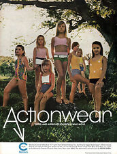 Young Girls Swimsuits ONE / TWO PIECE Petite Cheri Actionwear TEENS '67 Print Ad