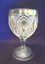 Antique EAPG Victorian Early Pattern NEW JERSEY GOBLET Gold-Trimmed Water Glass