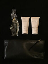 Donna Karan Cashmere Mist Gift Set 1.7oz EDP,Cleansing & Body Lotion With bag
