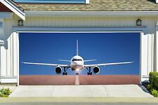 3d Effect Plane Airplane Garage Door Covers Banners Outside House Art Decor GD84