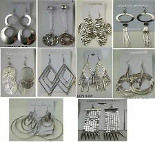 MN-109 Wholesale lot10 pairs Fashion Dangle Silver Plated  Earrings  US-SELLER