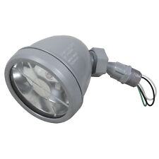 Hubbell TayMac Halogen Gray Metal Finish Switch-Controlled Outdoor Flood Light