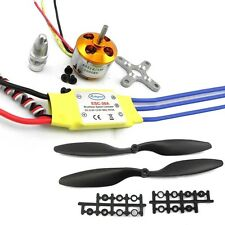 A2212 1000KV Motor w30A Brushless ESC + 1045 Propeller For DJI F450 550 FNHB  U
