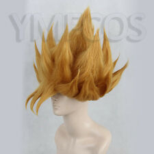 Dragon Ball Z GOKU Golden Blonde Anime Cosplay Costume Wig +Free CAP