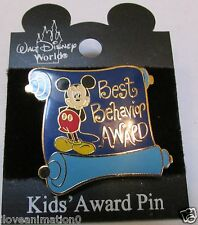 Disney Best Behavior Award Mickey Mouse Pin