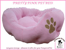 NEW SMALL CHEAP PINK DOG CAT PUPPY KITTEN PET BED SOFA  £9.99 + FULLY WASHABLE
