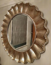 Laura Ashley Juniper Round Wall Mirror Ornate Champagne French Shell Style 83cm