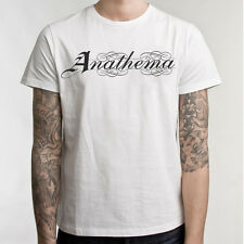 Anathema logo T-shirt Men's Metal Music Cotton White Tee Shirt M L XL 2XL 3XL