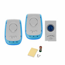 LED Plug-in wireless digital doorbell 1 Remote Control + 2 wireless door bell