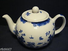 Heron CROCE CERAMICA Blue Willow inglese 6-8 TAZZA INGLESE TEA POT