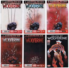 WOLVERINE (2014) 8-12 + DEATH OF WOLVERINE #1 SET 1ST PRINTS 3 2 1 MONTHS TO DIE