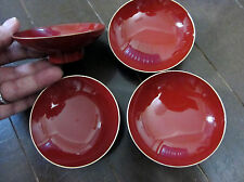 SAKE CUPS classic traditional lacquer style ~ Set of 4 ~ Made in Japan