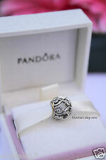 Authentic Pandora Disney Minnie Mickey Infinity Love Silver Charm 791462CZ
