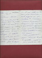Lettera di Auguri all'Amica Amante Autografo di Gerolamo Rovetta 1897