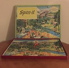 BURCKES Adventure Game SPAN-IT CLIMB THE MOUNTAIN PUZZLE GAME Very Vintage