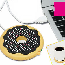 New Donut USB Cup Warmer Tea Coffee Mug Stand Warmer Pad - Keep Your Drink Warm