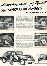 1947 Plymouth Automobile - Original Advertisement Car Print Ad J520