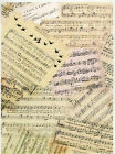 Rice Paper for Decoupage Decopatch Scrapbook Craft Sheet Vintage Music Sheets