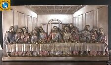 Da Vinci Portrayal of The Last Supper Sculpture Wall Plaque Jesus Betrayal