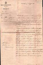LETTERA PER IL SINDACO DI BOSCOMARE VENTIMIGLIA 1883 - VENDITA FIENO -  C6-123