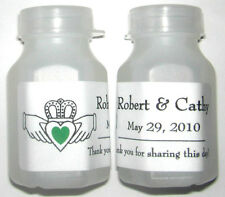 60 IRISH CLADDAGH WEDDING BUBBLE LABELS FAVORS