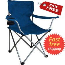 Camping Folding Portable Chair Outdoor Fishing Beach Hiking Picnic Foldable BLUE