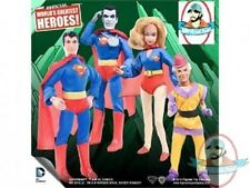 "DC Retro 8"" Superman Series 1 Set of 4 Figures Toy Company"
