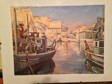 Bonnafoux , Chalutiers Dans Le Port De Marseille