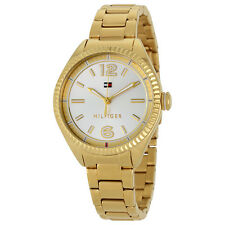Tommy Hilfiger Silver Dial Gold-tone Ladies Watch 1781520