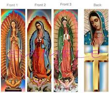 3 Lot-VIRGIN of GUADALUPE BOOKMARK RELIGIOUS CROSS Bible Book Card ART Figurine