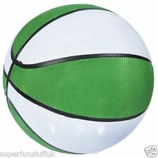 "5"" MINI GREEN & WHITE BASKETBALL INDOOR OUTDOOR SPORTS  KIDS TOY SMALL BALL GIFT"