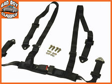 4 Point Black Racing Seat Belt Harness Ideal For KIT CAR