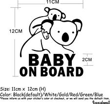 Reflective Koala Baby On Board Car Truck  Stickers Warning Decals Best Gifts