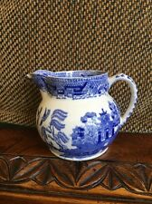 Antique Blue Willow Creamer, Semi China Ridgway, England