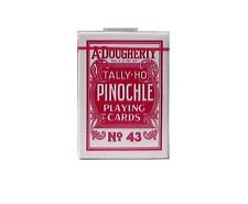 12 DKS A. DOUGHERTY TALLY-HO PINOCHLE PLAYING CARDS #43 LINOID FINISH OHIO MADE
