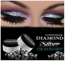 GlitterWarehouse Loose Cosmetic Glitter Powder Dust Eyeshadow Diamond Silver