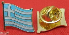 Greece Greek Country Flag Lapel Hat Cap Tie Pin Badge Brooch