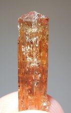 Imperial Topaz crystal Ouro Preto Minas Gerais Brazil Lustrous Glassy 2.7cm 2g
