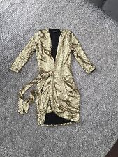 Zhivago Sovereign Of The Stars Gold Sequin Dress Size 6