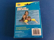 """Swim Aid Arm Bands, 10""""x6"""", 2 air chambers, easy to wear, put on upper arm, New"""